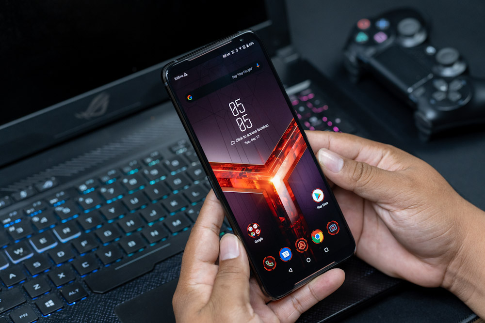 """Brand New Asus ROG Phone II ZS660KL Mobile Phone 6.59"""" 12GB 1TB Snapdragon855+ Dual SIM 6000mAh 48MP NFC Android9.0 ROG Phone 2
