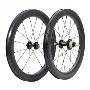 """Image 1 - Silverock عجلات الكربون 16 """"1 3/8"""" 349 ريم الفرامل 38 مللي متر الفاصلة 1 3S ل Brompton 3 ستين للطي دراجة مخصصة دراجة العجلات"""