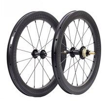 """Silverock פחמן גלגלי 16 """"1 3/8"""" 349 שפת בלם 38mm נימוק מכריע 1 3S לברומפטון 3 שישים מתקפל אופני Custom אופניים זוג גלגלים"""