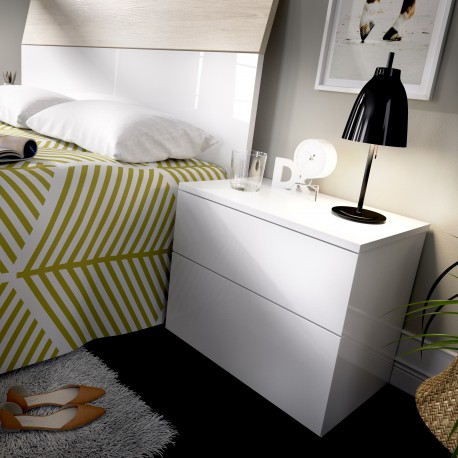 Nightstand 2 Drawers Three Colors To Choose.