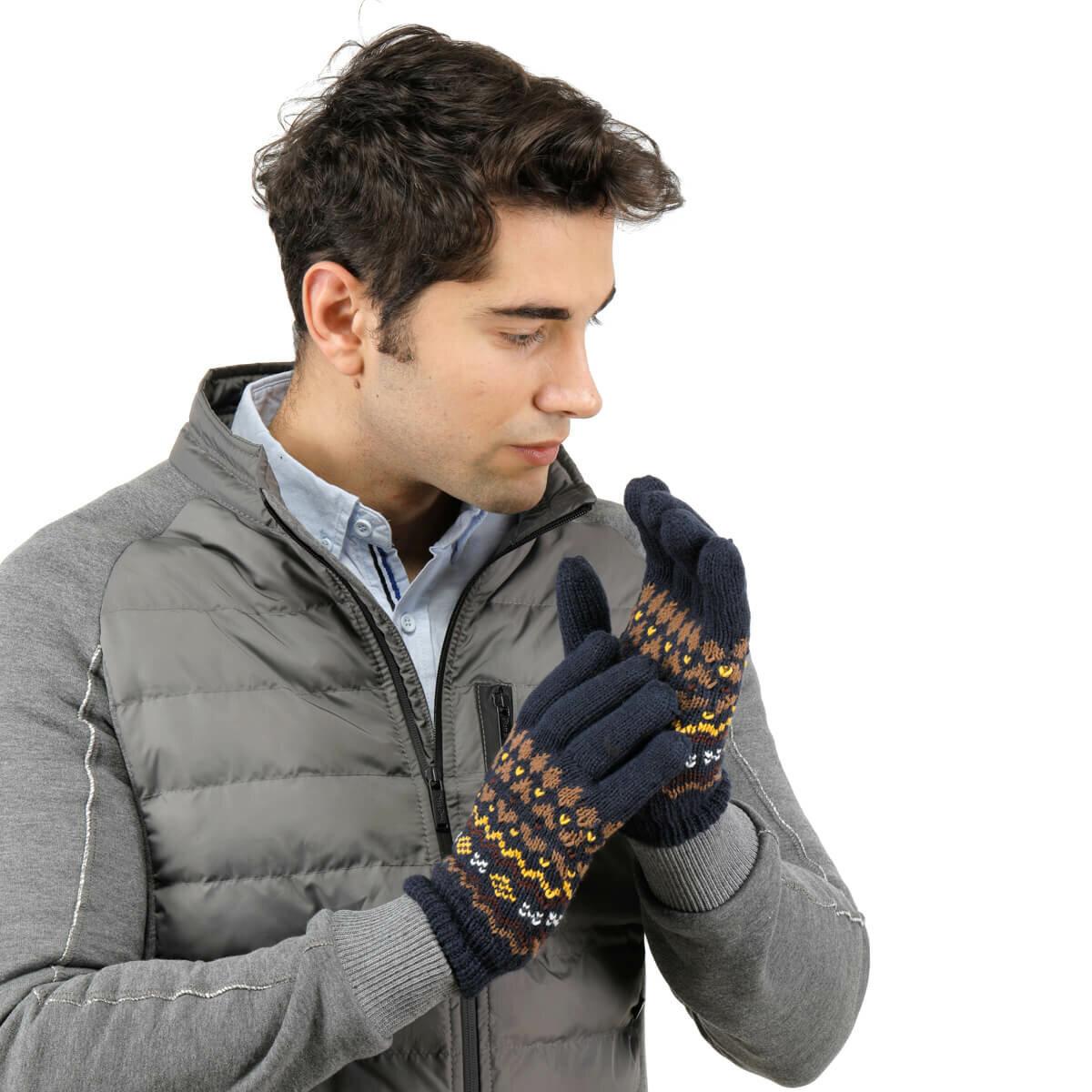 FLO ELD 9564 74Z Navy Blue Male Gloves BUTIGO