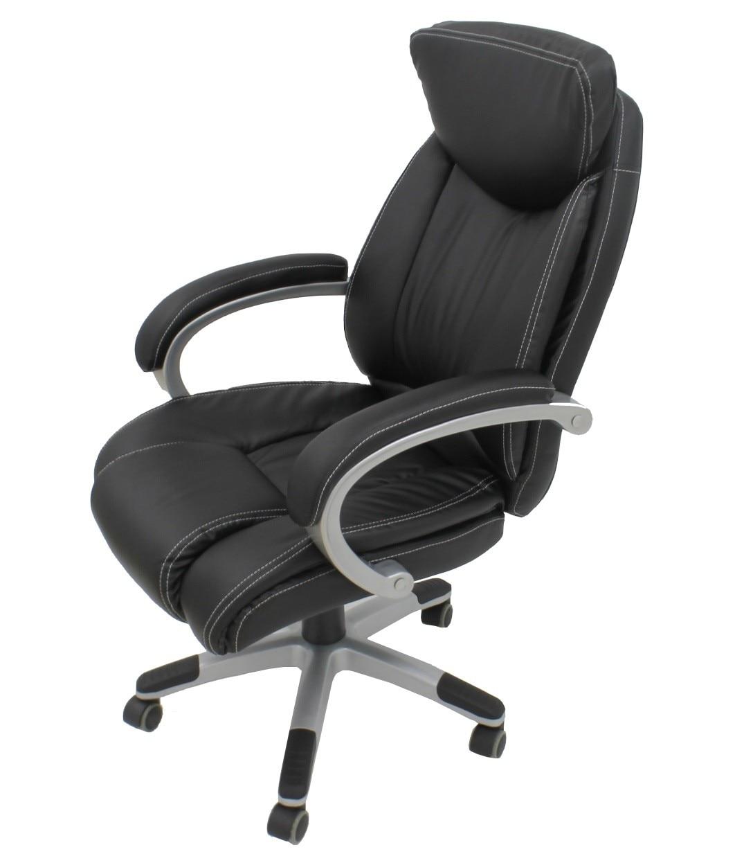 Office Armchair ALPHA, High, Gas, Tilt, Similpiel Black