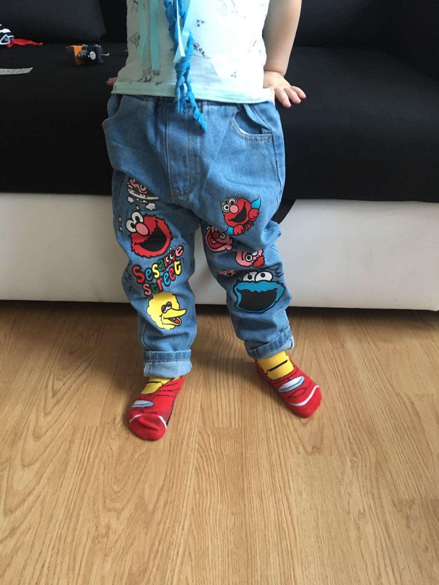 Brand Kids Cartoon Trousers Pant Fashion Girls Jeans Children Boys Jeans Kids Fashion Denim Pants Baby Jean Infant Clothing photo review