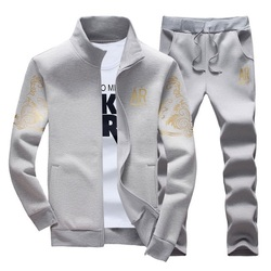 Spring Tracksuits Men Sporting Gyms Mens Set Casual Outfit Sportswear Fitness Men's Clothing Bodybuilding Male Zipper Sweat Suit
