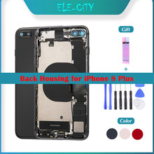 OEM Back Cover Housing For iPhone 8 Plus Middle Frame Chassis Flex Cabl