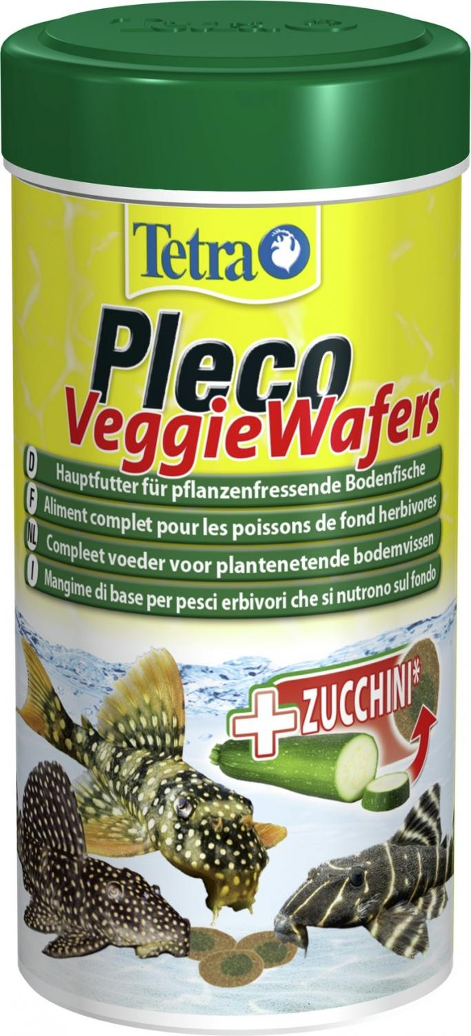Tetra Pleco Veggie Wafers (plate) For Eating On The Bottom Of The Fish, 250 Ml.
