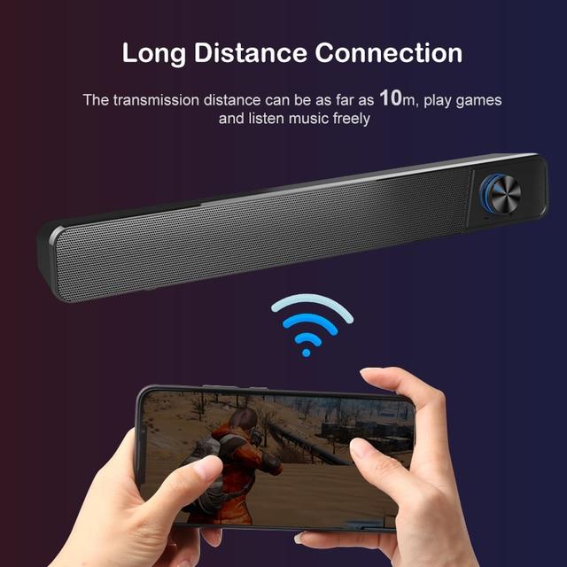 MiniBron Wireless Bluetooth Speaker Portable Bluetooth5.0 Speaker Wireless Speaker 4D Stereo Music Surround Speaker 3