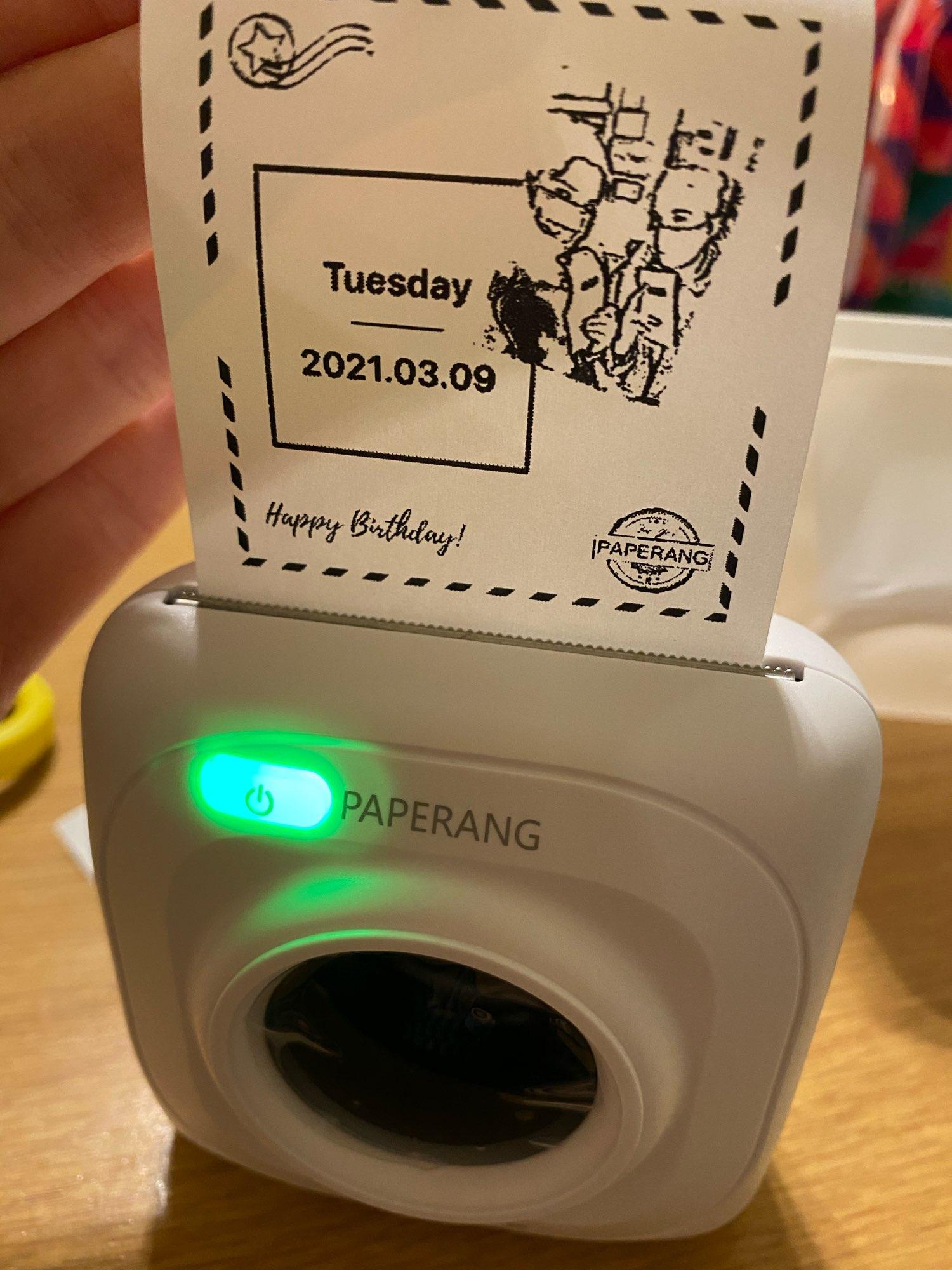 Thermal Printer Mini Mobile Photo Printer photo review