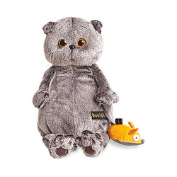 Soft toy Budi Basa Cat Basik and mouse 19 cm