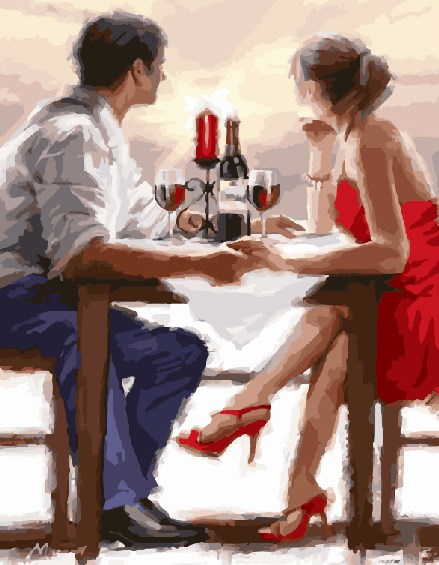 Painting By Numbers GX 8000 Romantic 40*50