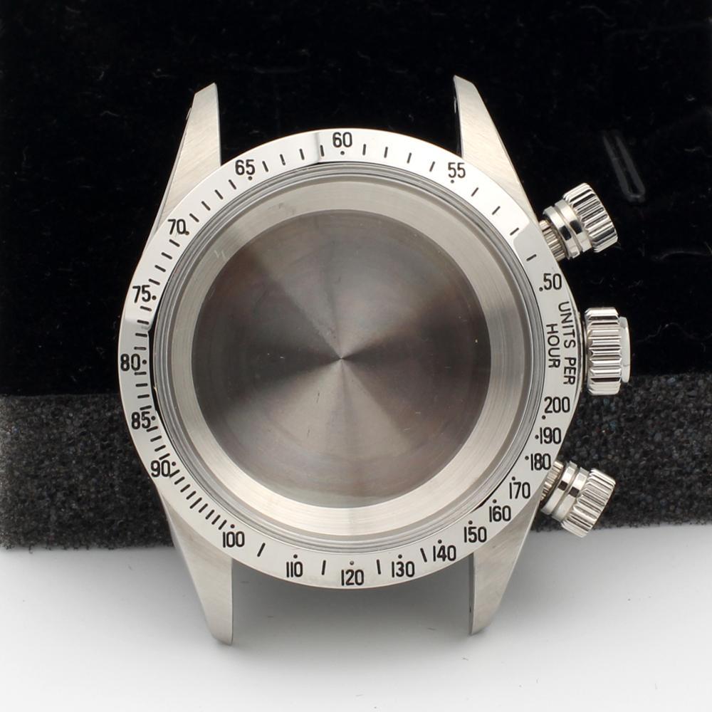 DIY Watch Case Kit For Valjoux 72 Movement Fits 6263 6265 Lug 19mm Silvery Bezel