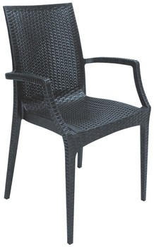 Armchair ROWING, polypropylene anthracite