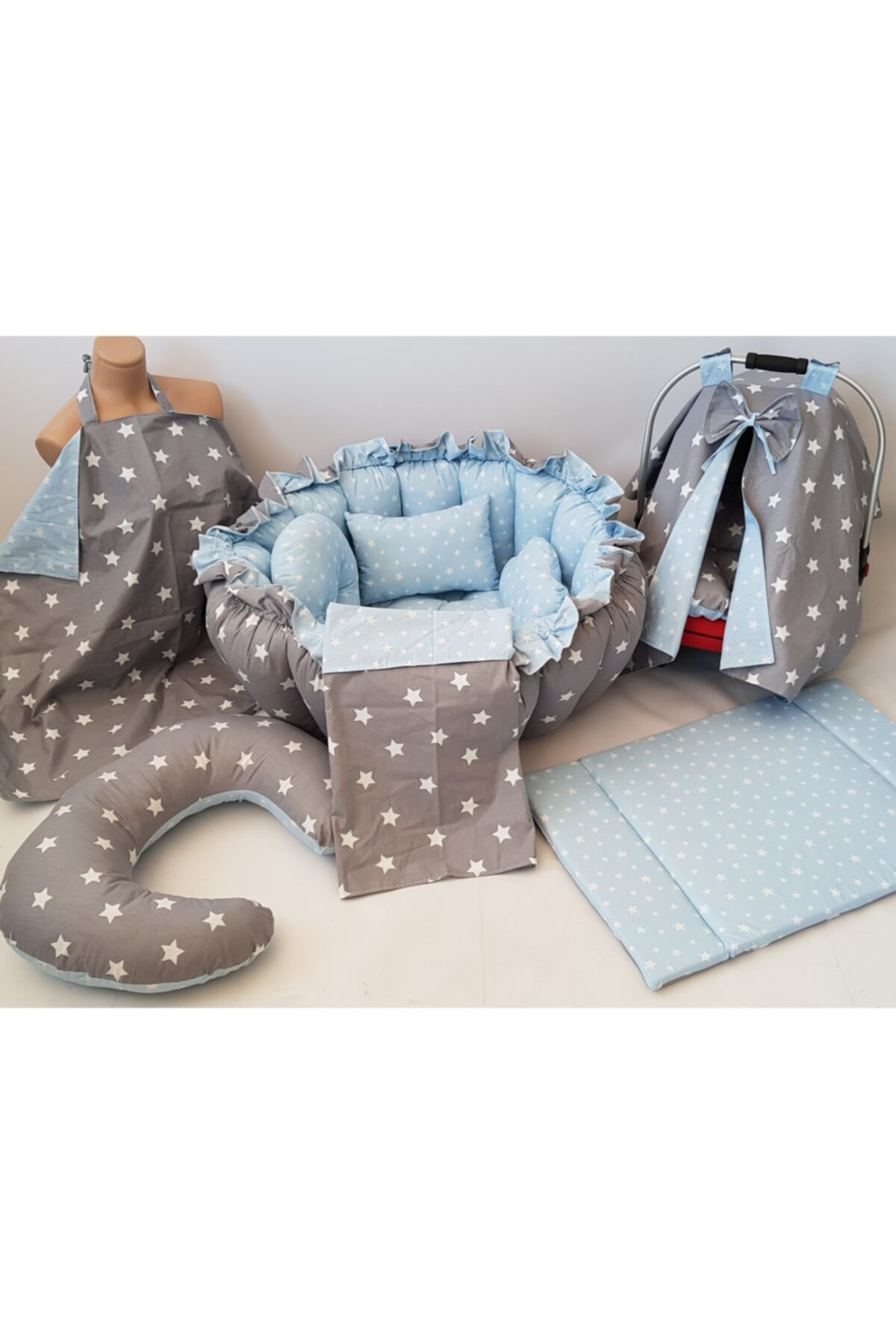 Mom Baby Babynest Set 10 Pieces - Mommy Baby Babynest Набор из 10 предметов