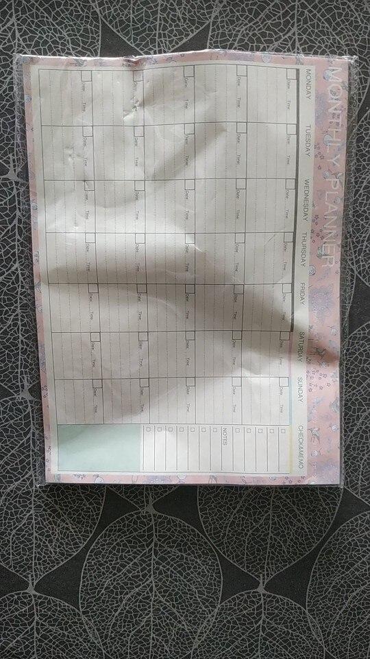 Cadernos semanal planejador papelaria