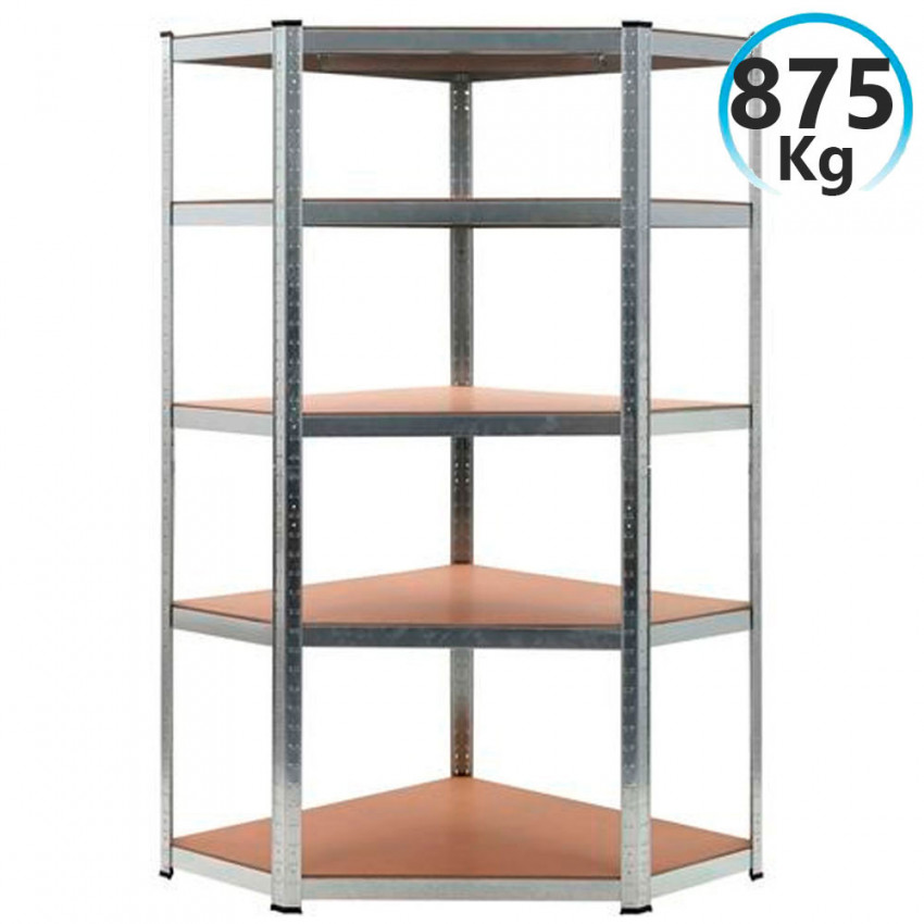 Shelf Corner Modulate Galvanized 5 Shelves Adjustable 180x90x40x70,5cm 875Kg GH91