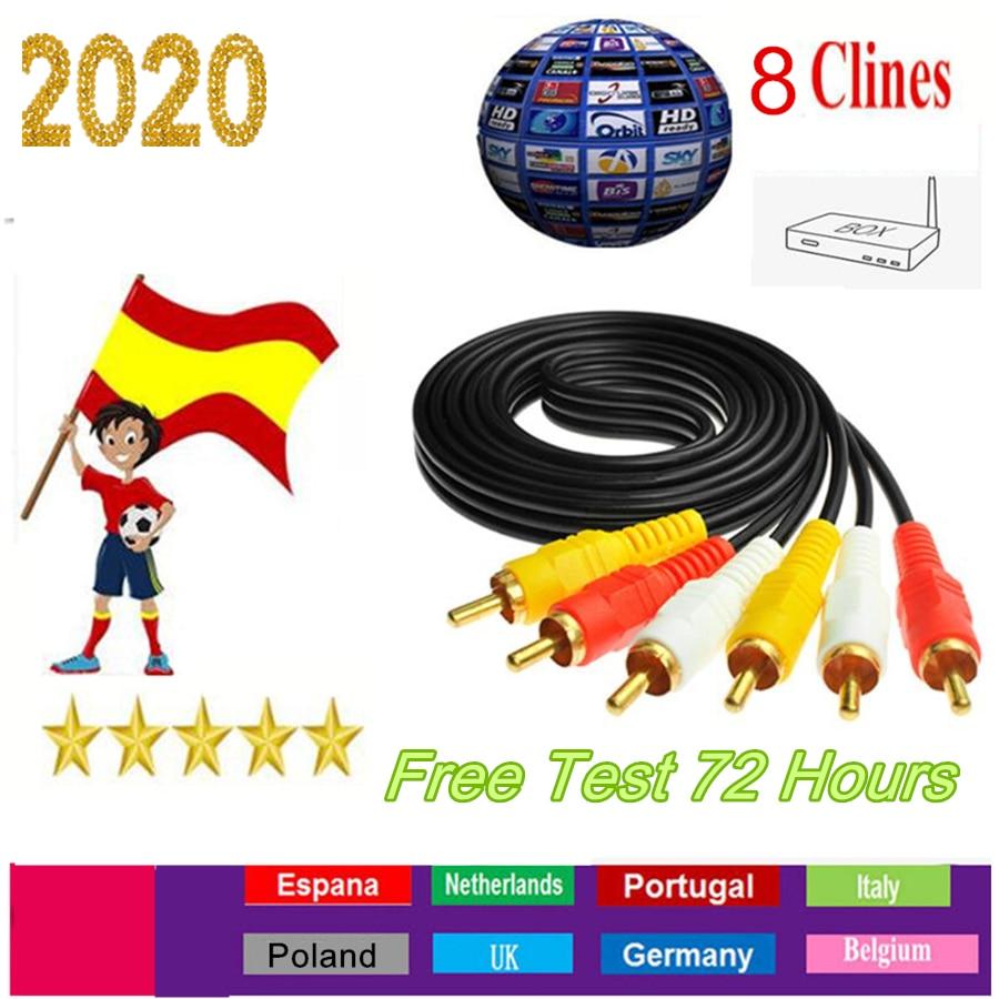 8 Lineas Cline Poland Cccam Europa Portugal For Spain Germany Receptor 4k Enigma 2 DVB S2 Satellite Receiver Oscam Europea Cline