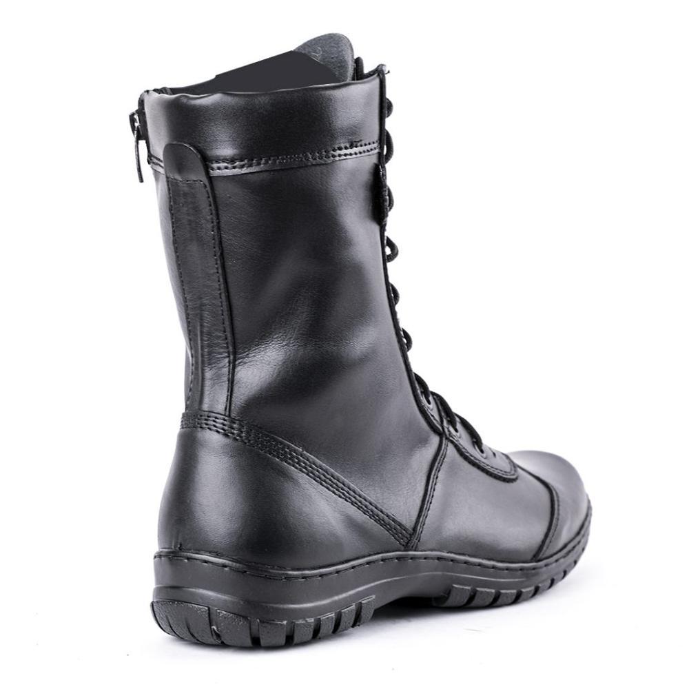 Demiseason couro genuíno laço-up preto exército tornozelo botas homens sapatos altos plana botas militares 5023/11wa
