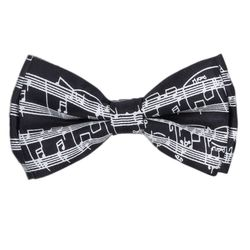 Men's bow tie (cotton, black, figure) 52706