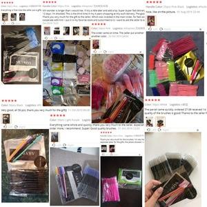Image 5 - 25/50 Stks/partij Wegwerp Nylon Siliconen Mascara Wands Handvat Borstels Wimpers Buigbare Make Up Borstels Wimper Extensions Tools