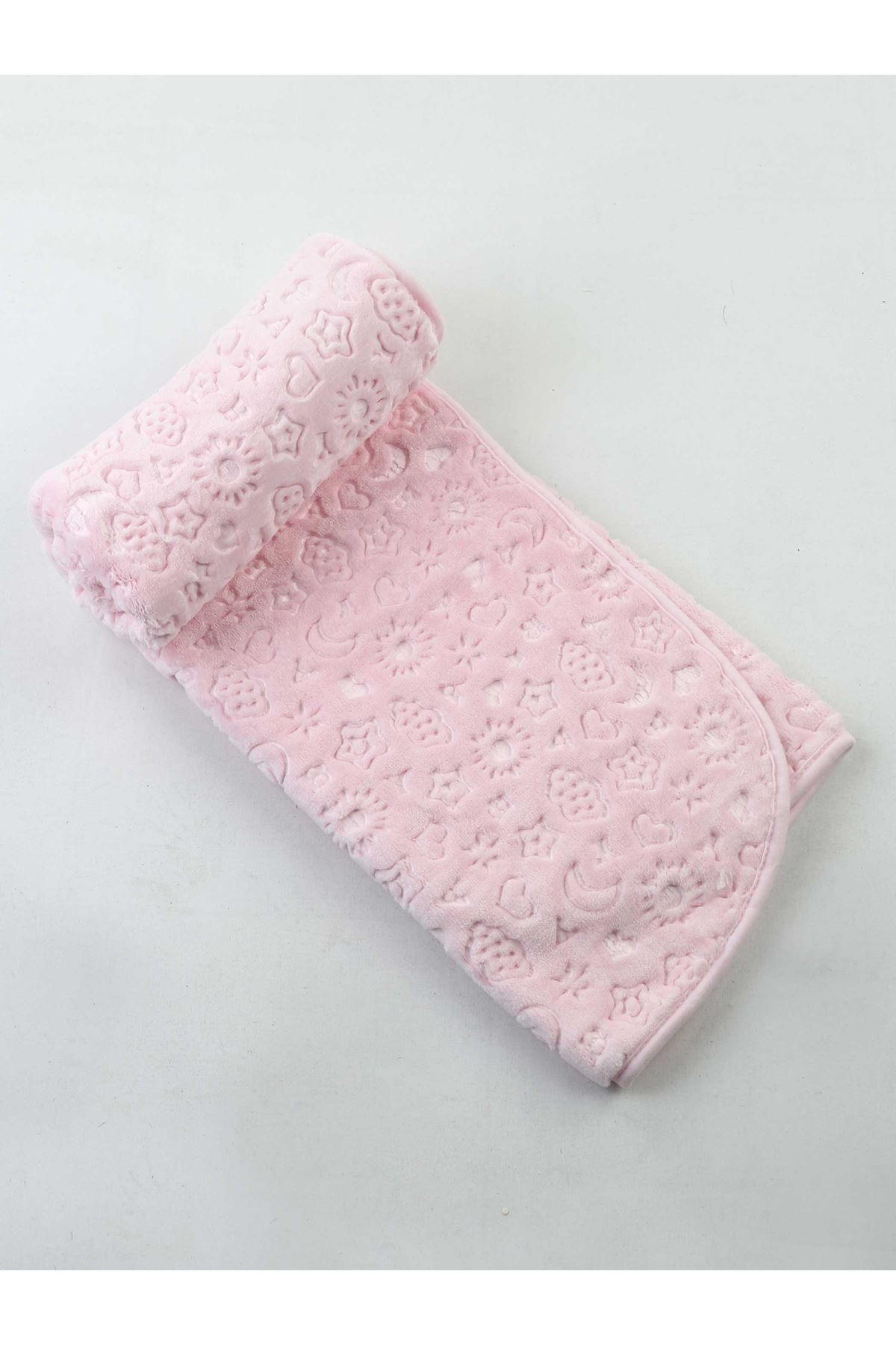 Baby Girl Boy Soft Blanket Fleece Surface Infants Swaddle Blanket Cotton 120x100cm Relief Beautiful Plush Surface Warm Protected