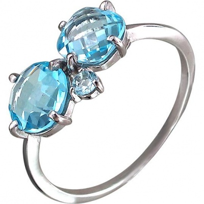 Jewelry Tradition Ring With Topaz Silver
