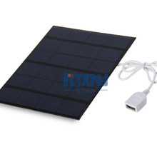Charger Solar-Cell with Usb-Port Polycrystalline DIY Battery 6V Usb-Cable