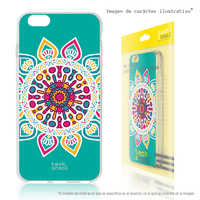 FunnyTech®Stand case for Huawei Matte Silicone 20 Lite L Mandala fund Green