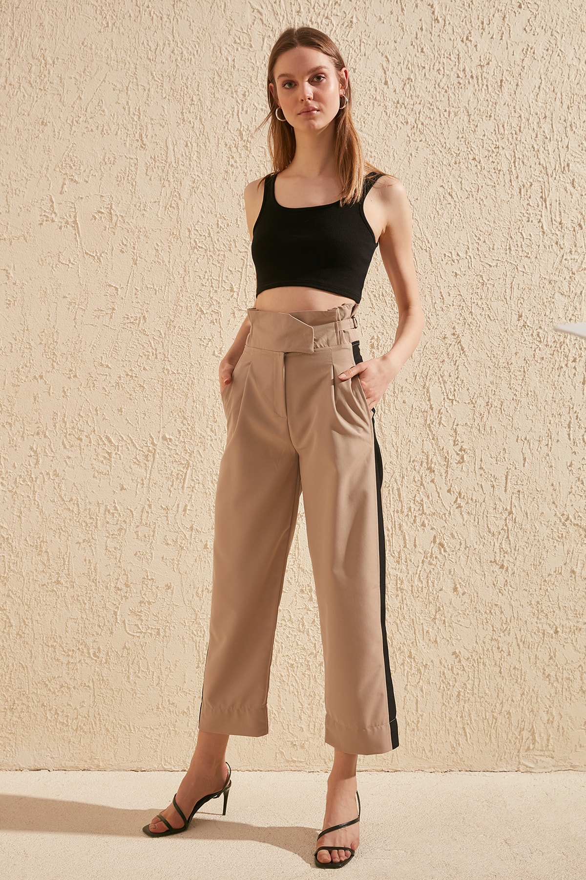 Trendyol With Color Block Pants TWOSS20PL0147