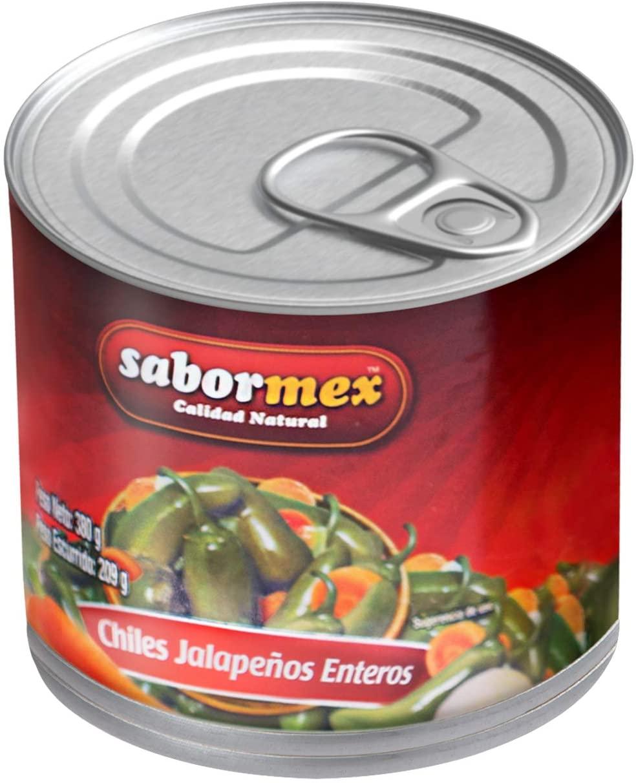 Savormex chilli Jalapeño integer 215 gr Natural product without preservatives or vegan dyes