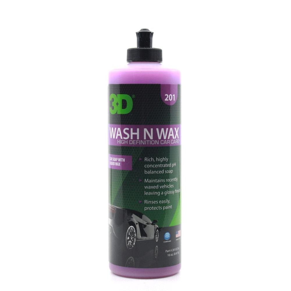 3D Wash N Wax  Super Concentrated All-In-One Car Wash Shampoo 473 ml. 201OZ16 title=