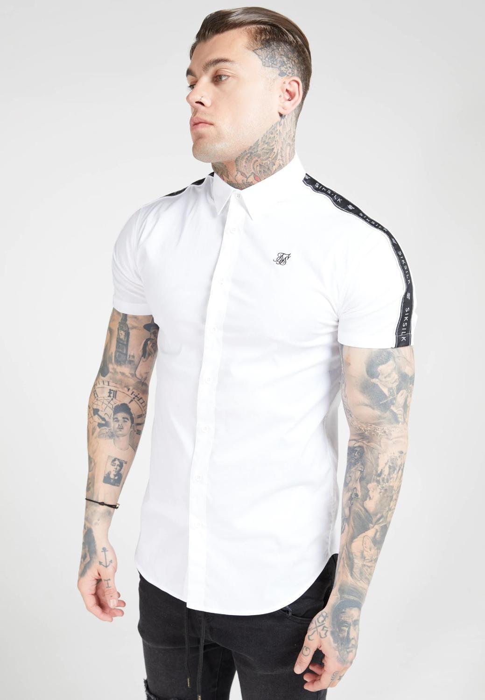 SikSilk S/S Raglan Stripe White Shirt
