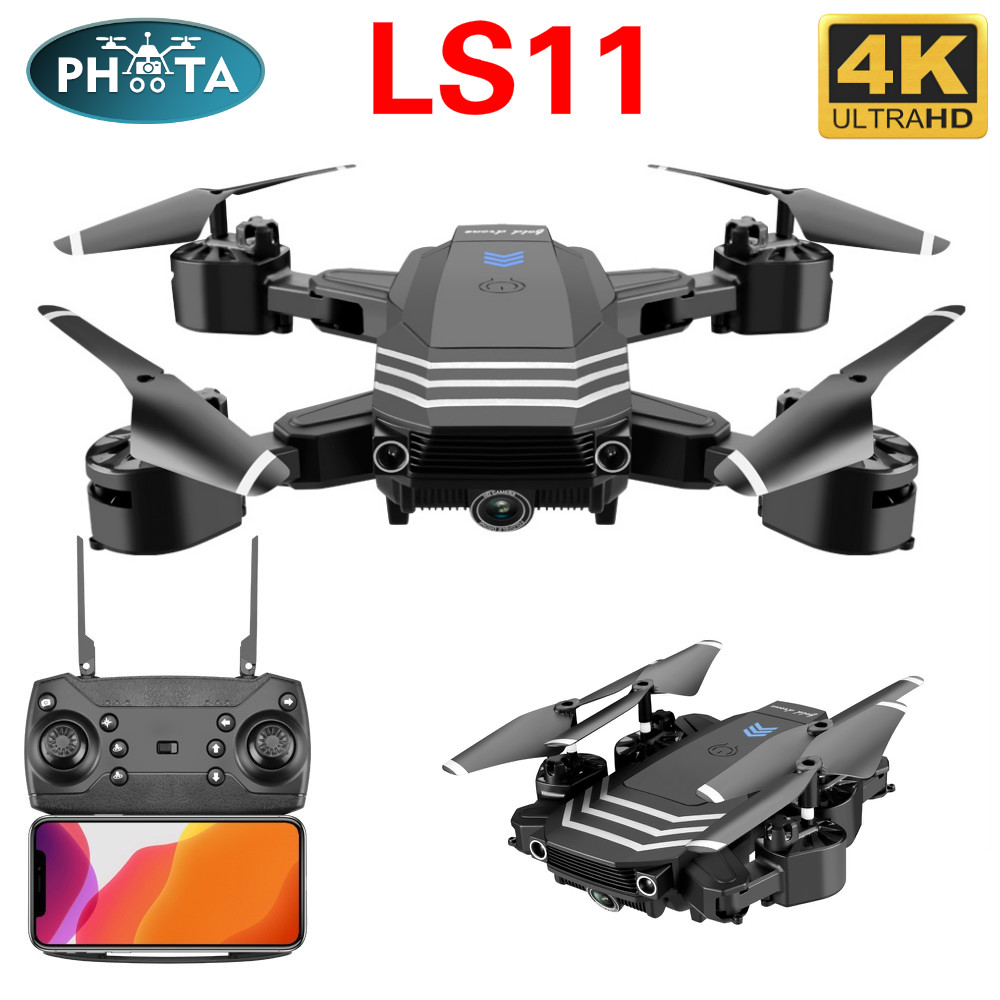 LS11 Drone 4k with camera HD wide angle WIFI 1080P FPV Drone video live Recording Quadcopter altitude hold Drones rolling 360