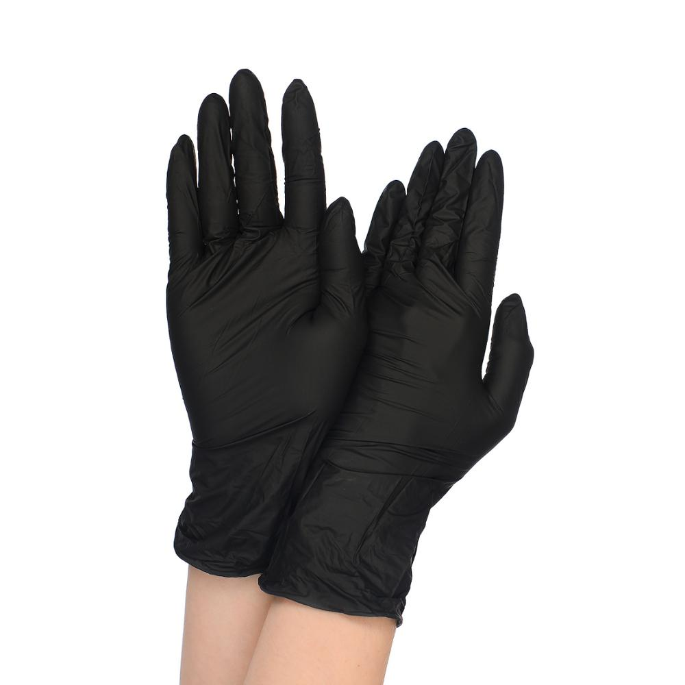 Disposable Vinyl Gloves Black 50 Pairs
