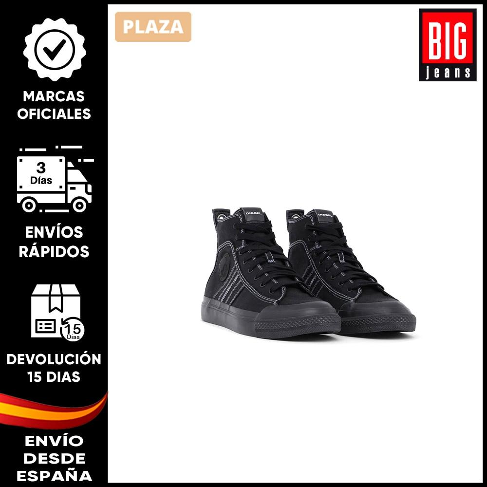 Diesel – Zapatilla Para Hombre Negro. Tenis Casuales. Zapatos Para Uso Diario. Sneakers Deportivas Con Logo. BigJeans