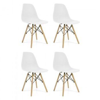 Pack de 4 sillas modernas estilo nórdico