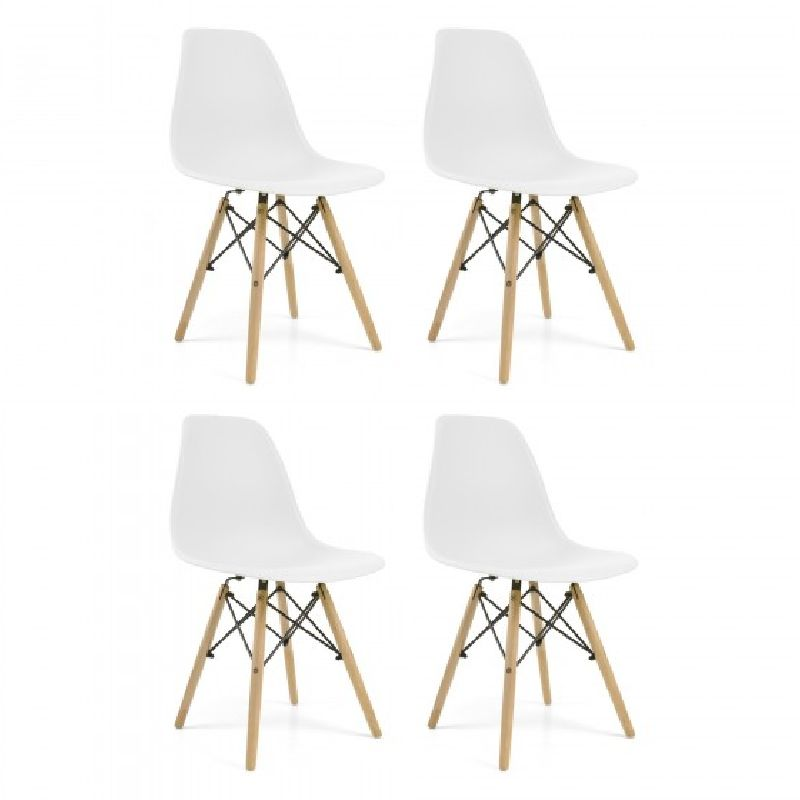 Pack 4's Sillas Dining Room Modern Nordic. Chair Kitchen, Dining Room, Desk, Salon. Modern Furniture. Wood And Plastic