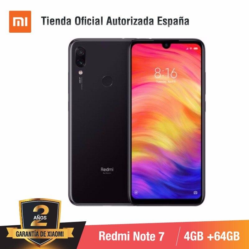 Global Version For Spain] Xiaomi Redmi Note 7 (Memoria Interna De 64GB, RAM De 4GB,Camara Dual Trasera De 48 MP) Smartphone