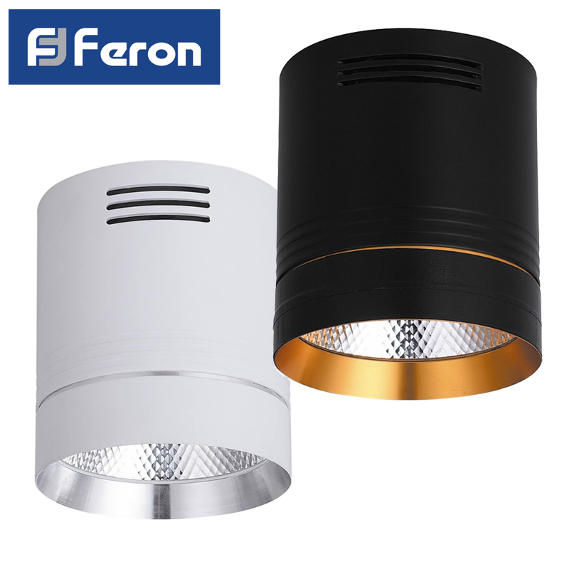 LED Downlight spot Feron AL521 patch 10W 4000K White Black ledron lip0906 10w y 4000k black