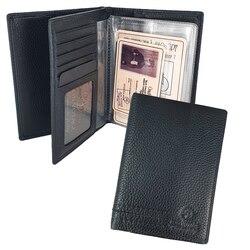Bon Voyage Unisex Multifunctional Passport Cover Holder Made Of Genuine Leather