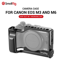 SmallRig jaula de cámara M6 para Canon EOS M3 y M6, célula de peso ligero, montaje de zapata fría con riel Nato 2130