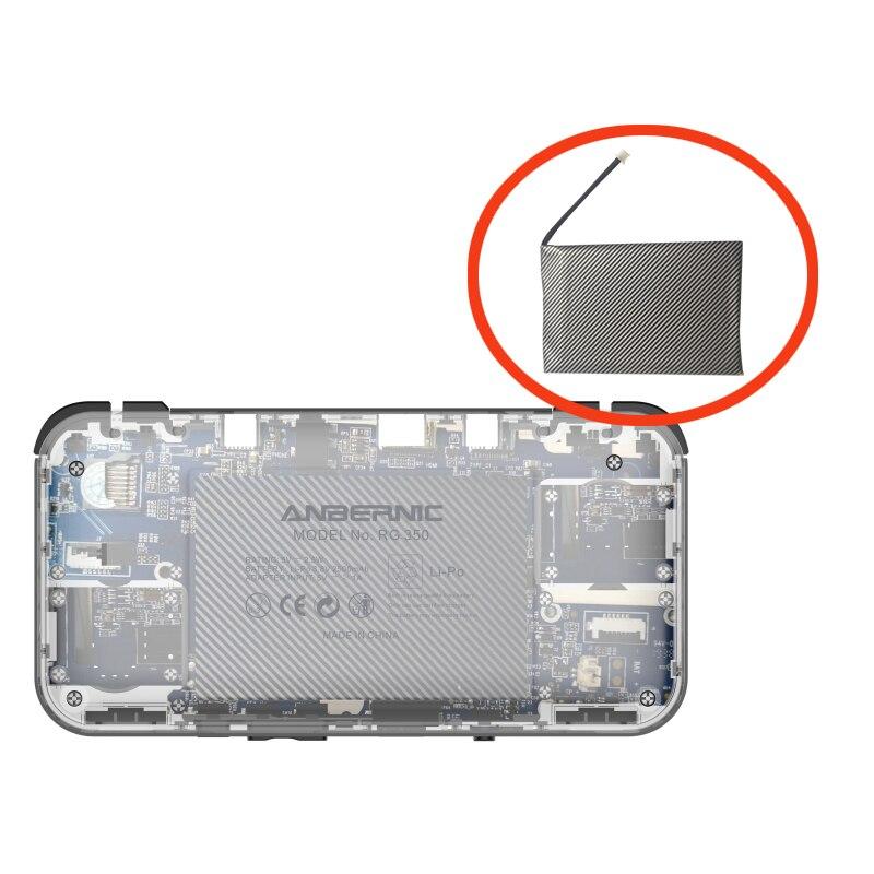 Аккумуляторная литий-полимерная батарея 2500 мАч 3,7 В для ручной игровой консоли RG350 RG350M в стиле ретро, Оригинальная батарея