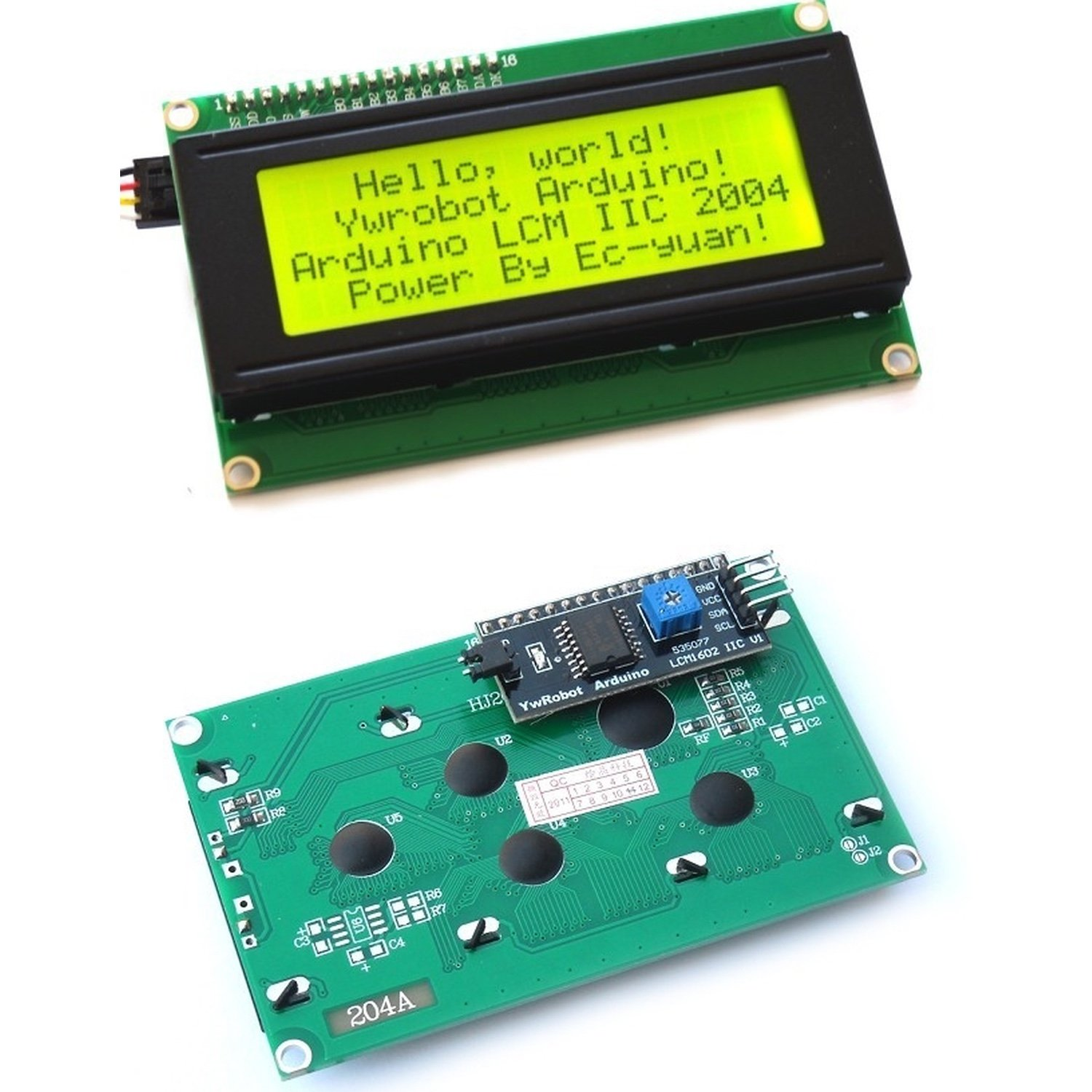 Serial IIC/I2C/TWI 2004 204 20X4 Character LCD Module Display For Arduino все цены