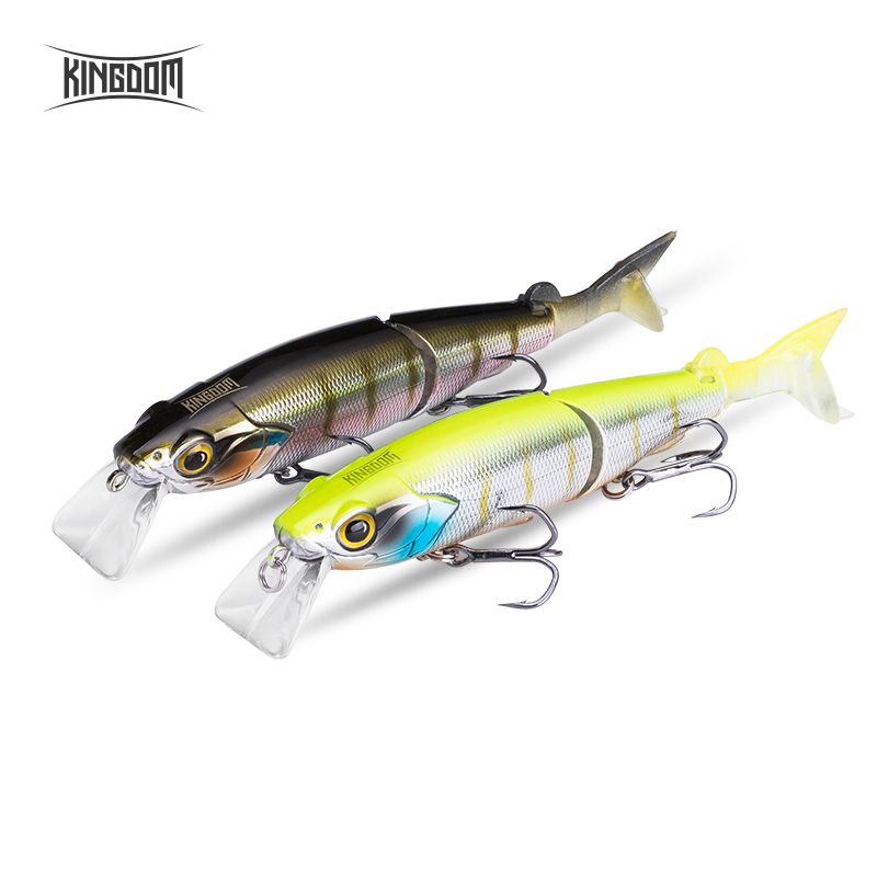 Kingdom Fishing Wobblers Jointed Minnow 120mm 17.5g Jerkbait For Seabass Pike 0 0.5M Diving Level Artificial Hard Fish Bait 9503|Fishing Lures| |  - title=