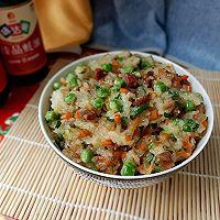 """#美食说出""""新年好""""#冬豆腊味糯米饭的做法图解12"""