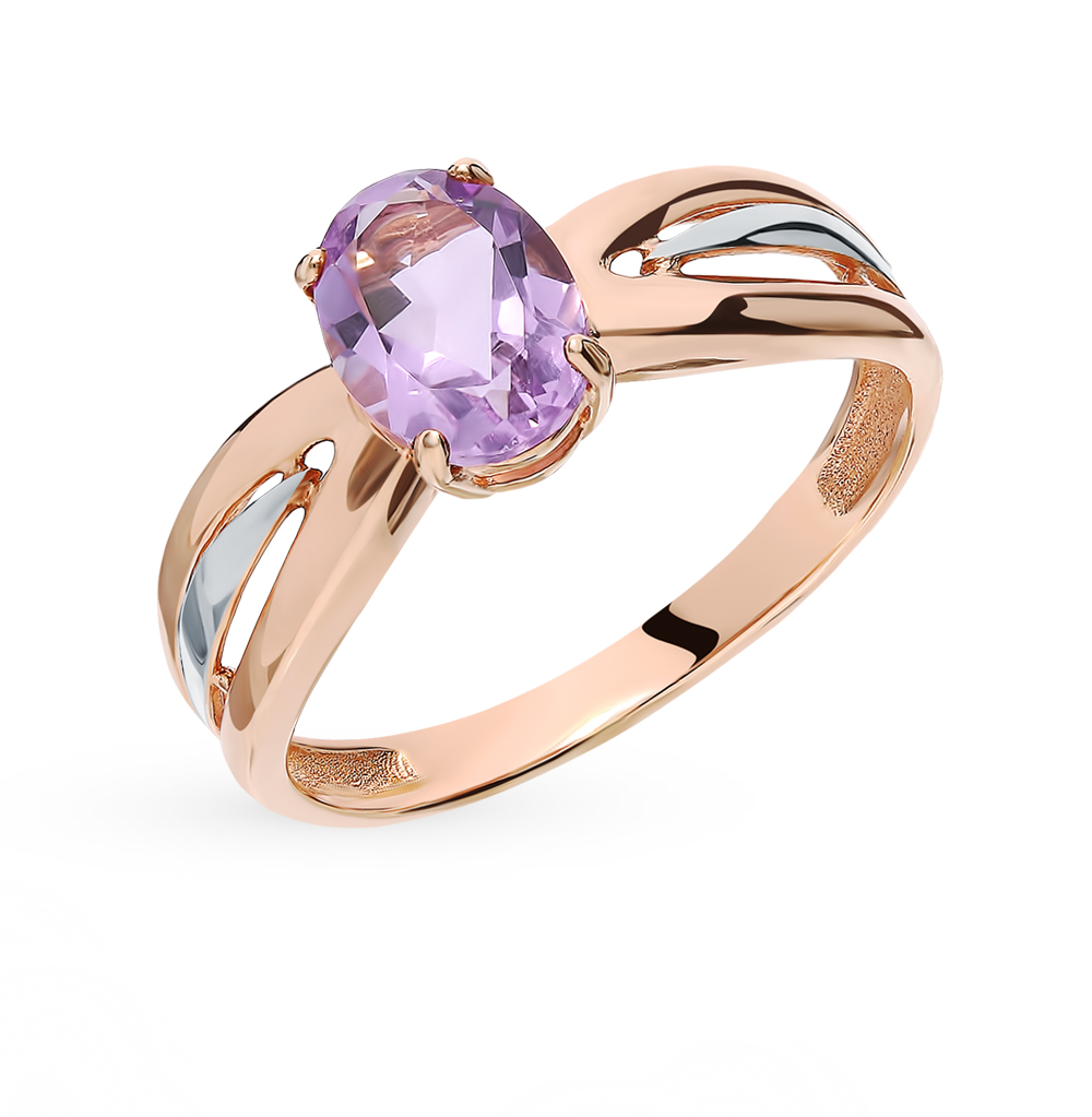 Gold Ring With Amethyst Sunlight Sample 585