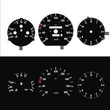 A H N de salpicadero EL, reloj grande de 180KM para W124, Panel negro, luz blanca inversa