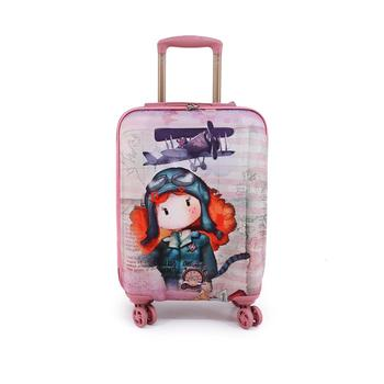 Ninette Atlantic Cabin Suitcase ABS trolley 4 wheels 54 cm free shipping log cabin suitcase man spider dimensions 55x38x20cm free shipping