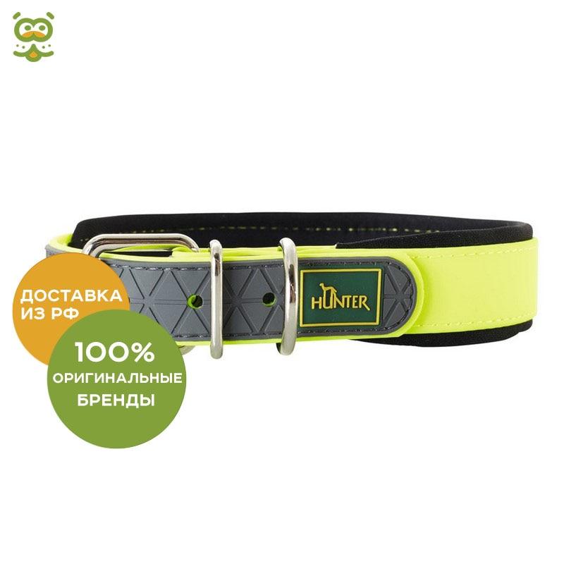 Collar Hunter Convenience Comfort for dogs, 42 - 50 cm., Yellow collar hunter convenience comfort for dogs 47 55 cm black