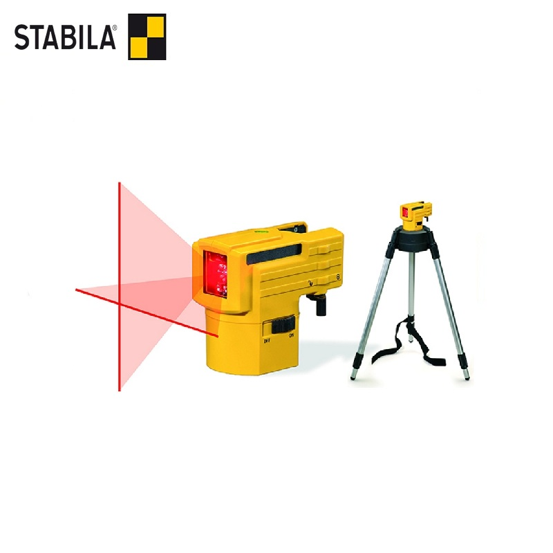 STABILA Laser level LAX 50 (range 10m, accuracy 0.5mm / m) with tripod-bar Self Leveling 360 Horizontal Vertical Laser high accuracy new self leveling rotary rotating laser level 500m range