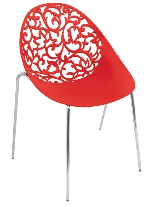 Chair GIN Chrome Polypropylene Network